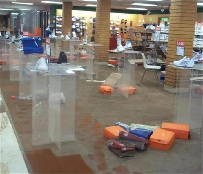 Commercial Water Damage – Montgomery Retail Store Before