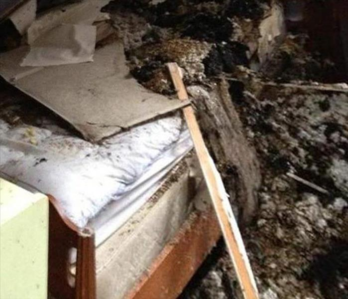 Fire Damaged Bedroom in Chisholm