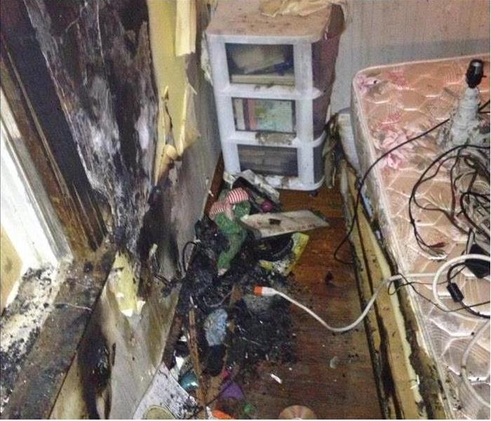 Highland Gardens Fire Damaged Bedroom